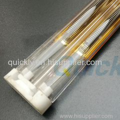 Medium wave IR lamps for glass printing