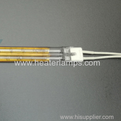 fast medium wave heating lamps for plastic thermal forming