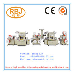 Flatbed Label Hot Foil Stamping Die Cutting Machine (with lamination/punching/embossing)