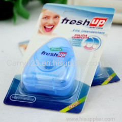 50m mint floss with Triangle shape dental floss dispenser