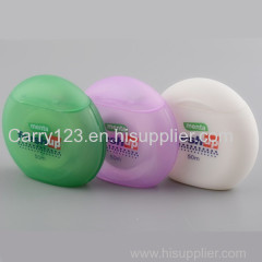 50m Cirlce cool mint dental floss with blister card packing Colorful