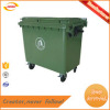660L large capacity Outdoor Usage and Plastic Material plastic Waste Bins with wheels Kunda