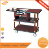 cheap factory direct coffee cart soild wood hotel coffe trolley with one burner Kunda
