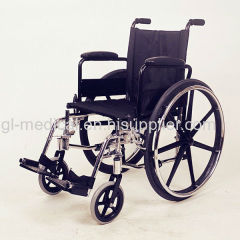Powder coating and chrome plated steel Wheelchair