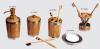 Bamboo cup soap box hand wash liquid bottle