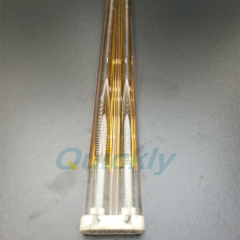golden reflector quartz medium wave infrared heater lamps