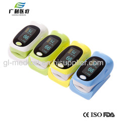 Medical LED display digital fingertip pulse oximeter