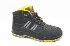 AX02003 suede leather safety footwear with composite toe-cap and kevlar middle sole