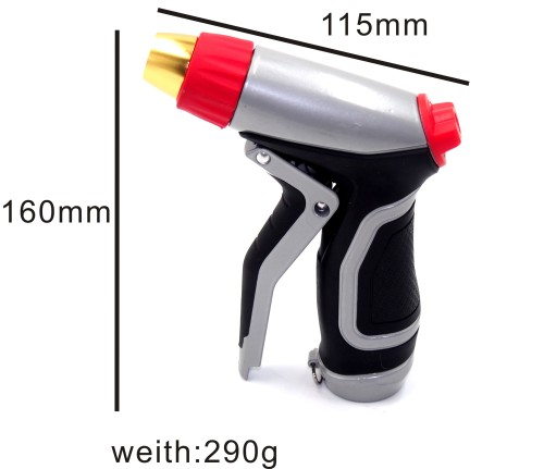Metal portable garden water spray nozzle