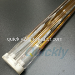 Quartz tube double infrared emitter for heating