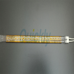 Quartz tube heating infrared emitter for drying