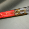 Quartz glass tube infrared emitter with gold coating