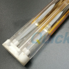 Quartz infrared heater for screen printing glass