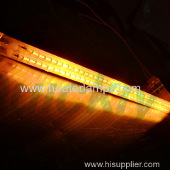 twin tube infrared heater lamps with golden reflector