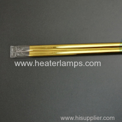 twin tube fast medium wave infrared heater lamps with gold coating