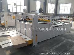 Semi automatic box gluing machine corrugated box machine
