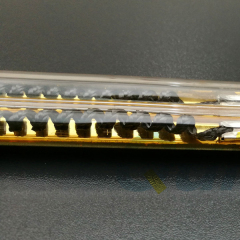 carbon fiber medium wave infrared heating lamps with gold coating
