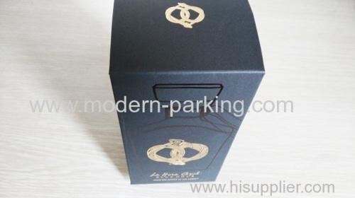 Matt gold stamped wine gift box