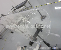 Large Diameter Clear Fused Quartz Glass Tube