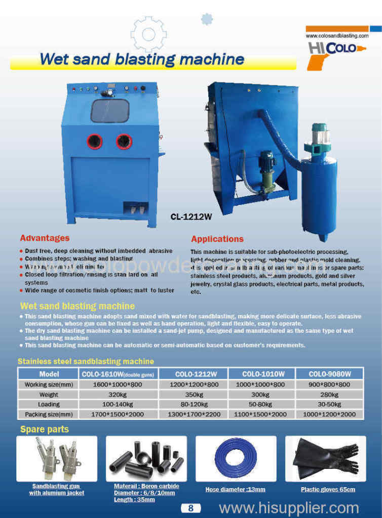 sandblasting machine catalogue