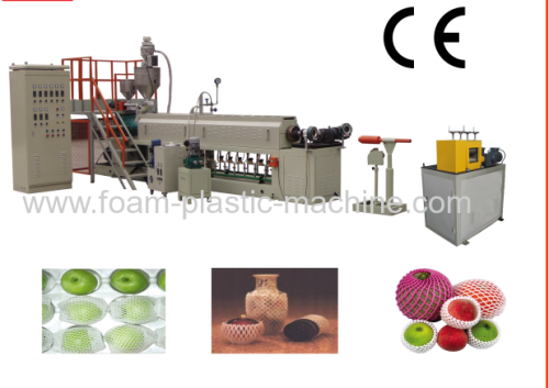 Different Type Styrofoam PE foam fruit net extrusion machine