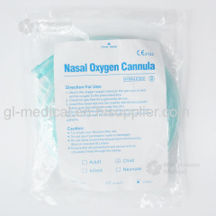 Disposable high flow oxygen nasal cannula