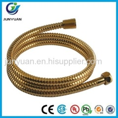 Stainless steel flexible luxurious golden shower hose for washing