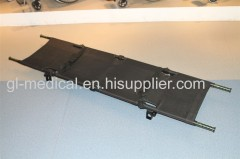 Carbon fiber military folding stretcher with good fatigue durability