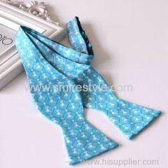 Cheap Custom Logo Jacquard Woven Silk Masonic Bow Tie