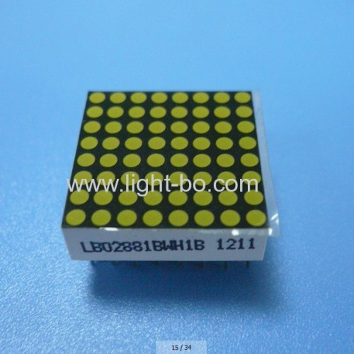 0.8 inches 8 x 8 white dot matrix led displays for Moving signs / message boards/elevator position indicators