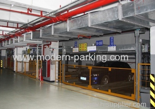 Automated indoor car puzzle parking garage