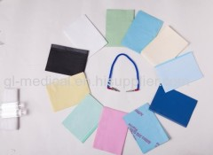 Disposable custom printed dental bibs