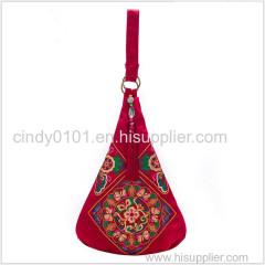 Ladies Fashion Denim Shoulder Bag Big Size Embroidered Dumplings Handbags