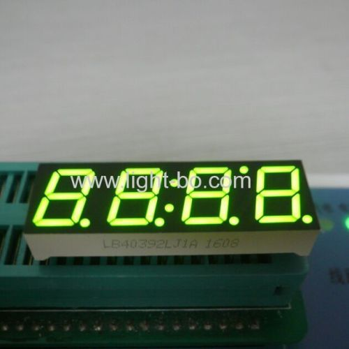 Super bright green 0.39inch 4 digit 7 segment led display common cathode for equipment panel