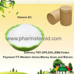 Vitamins And Amino Acids White Crystal Powder Vitamin D3 CAS:67-97-0 Food Grade