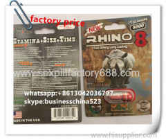 24 capsules Powerful lasting RHINO 8 male sex pills