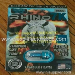 hot selling rhino 7k rock hard erections capsules