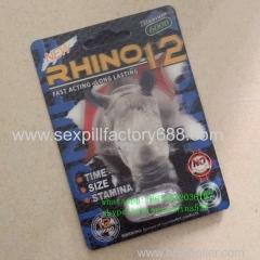 3D rinoceronte 12 ereção masculino acessório pílulas