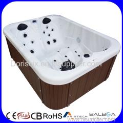 Massage Function and Corner Drain Location spa product 3 person bathtub