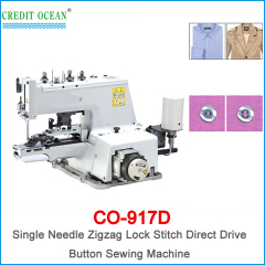 CREDIT OCEAN Single Needle Zigzag Lock Stitch Direct Drive Button Sewing Machine