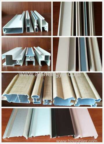 Powder coated aluminum accessories for door and window