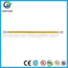 Yellow stainless steel corrugated flexible natural gas hose