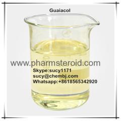 흰색에서 연한 노란색 액체 또는 결정 Guaiacol CAS : 90-05-1 안전한 유기 용제