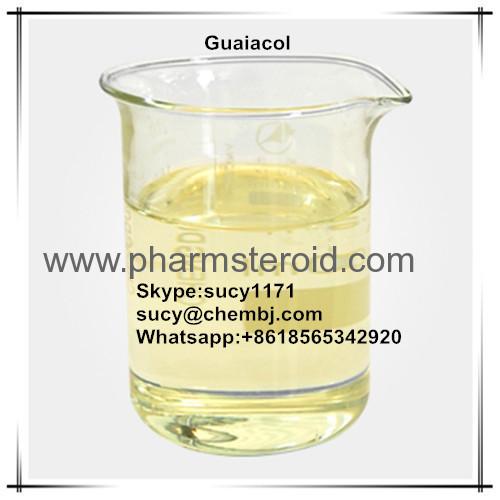 Weiß bis hellgelbe Flüssigkeit oder Kristall Guaiacol CAS: 90-05-1 Sichere organische Lösungsmittel