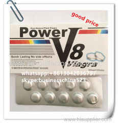 200mg 10 grains quick lasting pure natural plant Power V8 viagra tablets