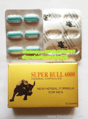 12 capsules super bull 6000 sexual enhancement