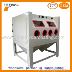 Manual Multi Station Sandblasting Cabinet for Surface Treatment
