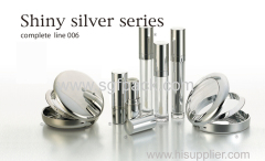 Shiny sliver makeup plastic cosmetic tube series