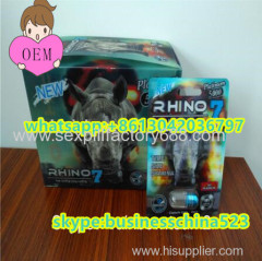 3D new package RHINO 7 male supplements enlarge penis