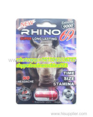NEW hot selling 3D rhino 69 sex supplement